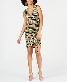 Sleeveless Printed Sheath Necklace Dress, Created for Macy's
