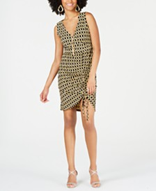 Thalia Sodi Sleeveless Printed Sheath Necklace Dress, Created for Macy's