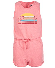 Big Girls Sunset-Print Knit Romper, Created for Macy's