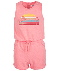 Epic Threads Big Girls Sunset-Print Knit Romper, Created for Macy's