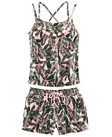 Big Girls 2-Pc. Leaf-Print Tank Top & Shorts Set, Created for Macy's