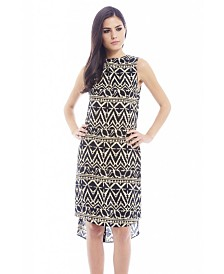 AX Paris Swing Aztec Printed Dip Hem Dress