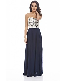AX Paris Crochet Sweetheart Maxi Dress