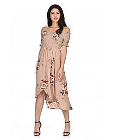 Floral Bardot Printed Dress