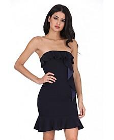 Bandeau Frill Detail Mini Dress