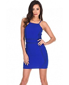 Strappy Stud Front Bodycon Mini Dress