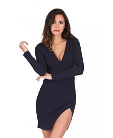 AX Paris Wrap Thigh Split Dress