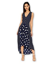 Polka Dot Asymmetric Dress