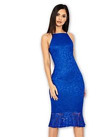 Lace Fishtail Midi Dress