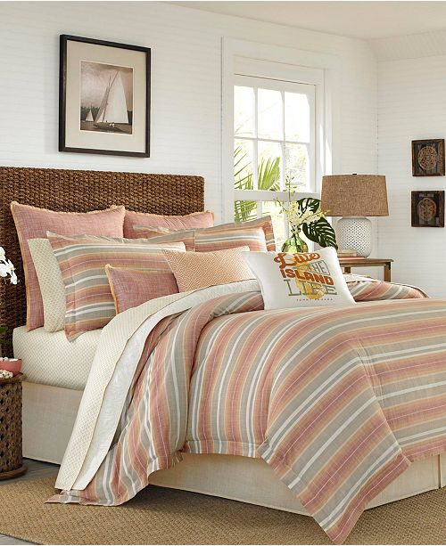 Tommy Bahama Home Tommy Bahama Sunrise Stripe Queen Comforter Set