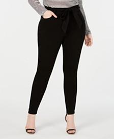 Celebrity Pink Plus Size  Tie-Waist Skinny Jeans