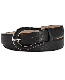 Steve Madden Pebble Belt with Two-Tone Ranger Buckle