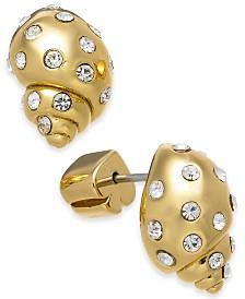 Kate Spade New York  Gold-Tone Pavé Shell Stud Earrings