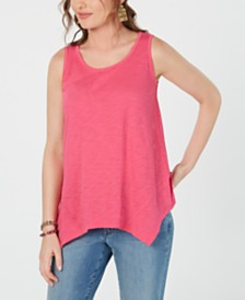 Style & Co Handkerchief-Hem Tank Top, Created for Macy's