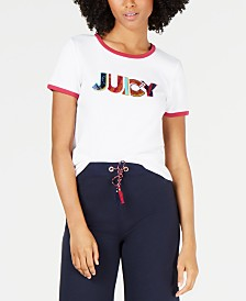 Juicy Couture Cotton Sequin-Graphic T-Shirt