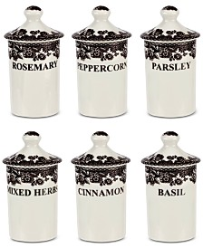 Spode Delamere Spice Jars, Set of 6