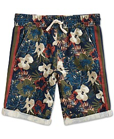 Epic Threads Little Boys Stretch Floral Twill Shorts, Created for Macy's