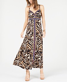 I.N.C. Tiger Stripe Maxi Dress, Created for Macy's