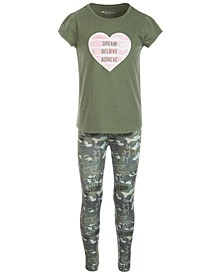 Toddler Girls 2-Pc. Graphic-Print T-Shirt & Leggings Set, Created for Macy's
