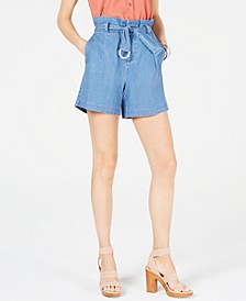 INC Paperbag Jean Shorts, Created for Macy's