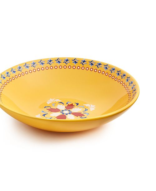Martha Stewart Collection La Dolce Vita Yellow Dinner Bowl, Created for Macy's