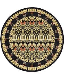 Orwyn Orw3 Black 6' x 6' Round Area Rug