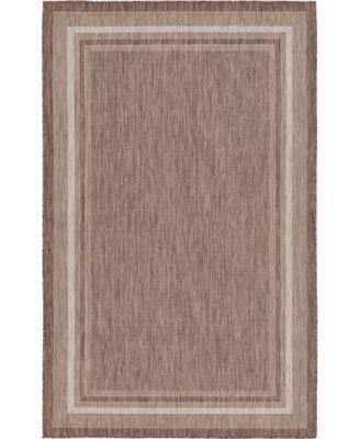 Pashio Pas5 Brown 5' x 8' Area Rug