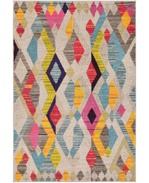 Bridgeport Home CLOSEOUT! Arcata Arc6 Multi 4' x 6' Area Rug