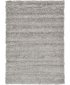 Bridgeport Home Exact Shag Exs1 Cloud Gray 4' x 6' Area Rug