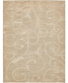 Bridgeport Home Malloway Shag Mal1 Beige 9' x 12' Area Rug