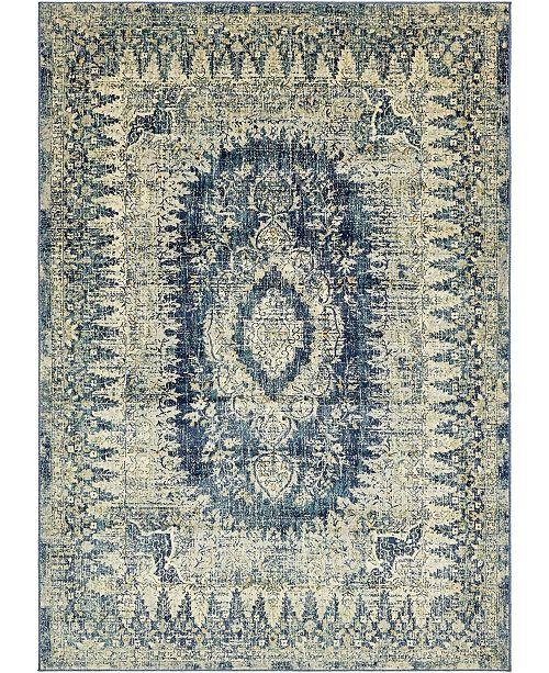 Bridgeport Home Masha Mas5 Navy Blue 7' x 10' Area Rug