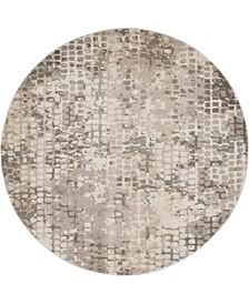Crisanta Crs4 Gray 8' x 8' Round Area Rug