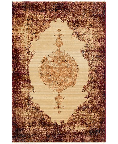 Bridgeport Home Thule Thu2 Red 5' x 8' Area Rug