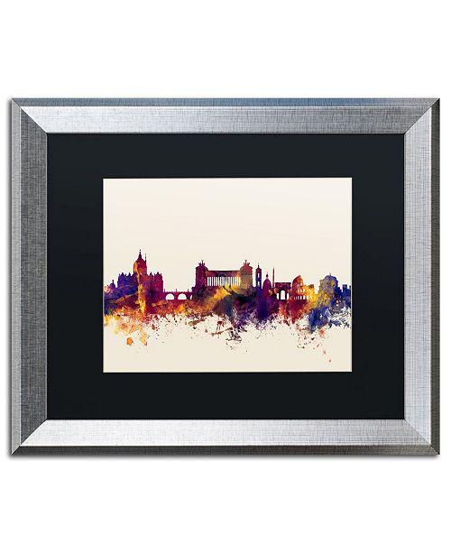 """Trademark Global Michael Tompsett 'Rome Italy Skyline' Matted Framed Art - 16"""" x 20"""""""