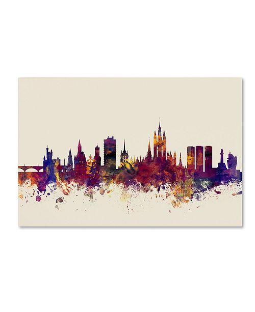 """Trademark Global Michael Tompsett 'Aberdeen Scotland Skyline' Canvas Art - 16"""" x 24"""""""