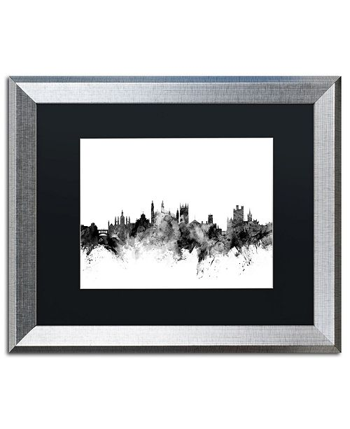 "Trademark Global Michael Tompsett 'Cambridge England Skyline B&W' Matted Framed Art - 16"" x 20"""