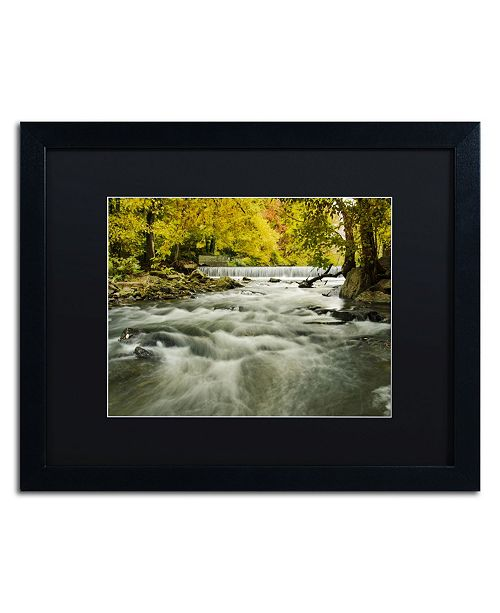"Trademark Global PIPA Fine Art 'Hoopes Falls in the Autumn' Matted Framed Art - 16"" x 20"""