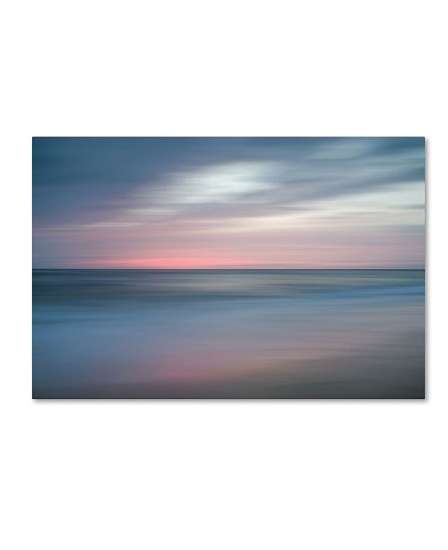 """Trademark Global PIPA Fine Art 'The Colors of Evening on the Beach' Canvas Art - 16"""" x 24"""""""