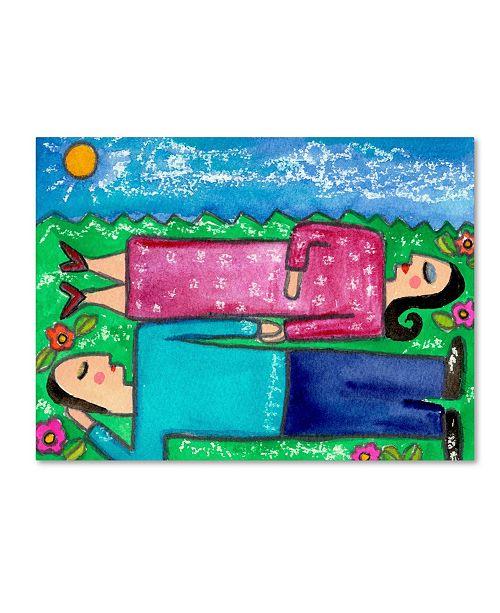 "Trademark Global Wyanne 'Big Diva Cloud Dreaming' Canvas Art - 18"" x 24"""