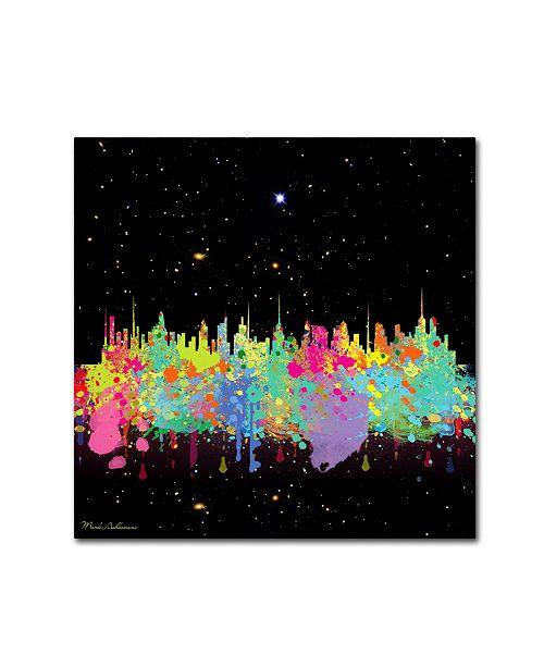 "Trademark Global Mark Ashkenazi 'Abstract C T' Canvas Art - 18"" x 18"""