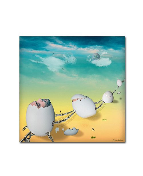 "Trademark Global Mark Ashkenazi 'Deser' Canvas Art - 18"" x 18"""