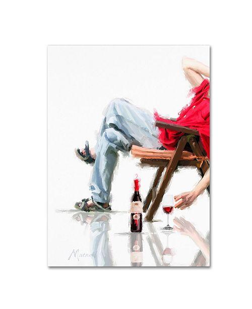 "Trademark Global The Macneil Studio 'Male In Chair' Canvas Art - 18"" x 24"""