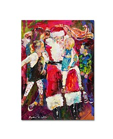 "Richard Wallich 'Santa and Bailey' Canvas Art - 18"" x 24"""