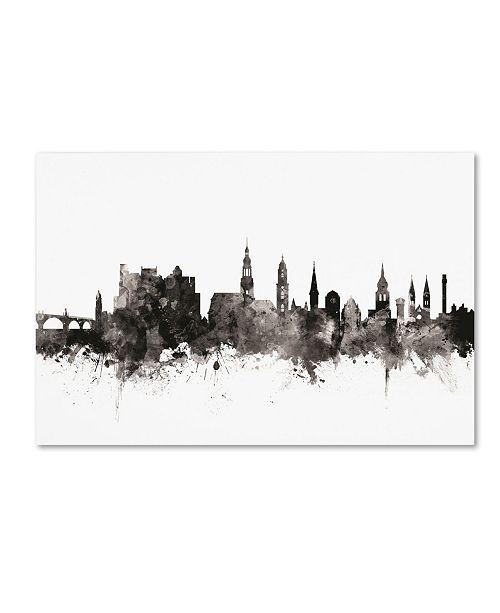 "Trademark Global Michael Tompsett 'Heidelberg Germany Skyline I' Canvas Art - 16"" x 24"""