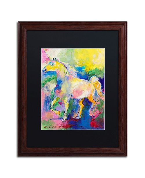 "Trademark Global Richard Wallich 'Unicorn' Matted Framed Art - 16"" x 20"""
