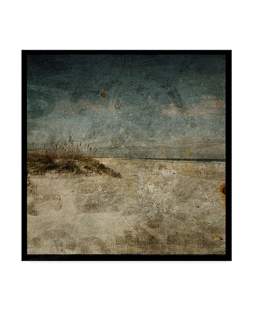 "Trademark Global John W. Golden 'Dark Beach' Canvas Art - 18"" x 18"""