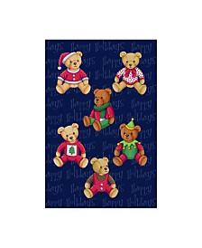 "Kimura Designs 'Christmas Bears' Canvas Art - 16"" x 24"""