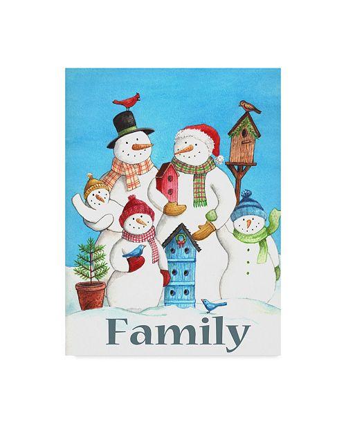 "Trademark Global Melinda Hipsher 'Snow Family' Canvas Art - 18"" x 24"""