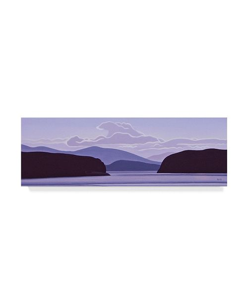 "Trademark Global Ron Parker 'Gulf Island Evening' Canvas Art - 16"" x 47"""