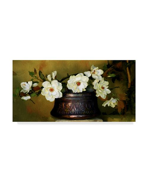 "Trademark Global Sharon Forbes 'Magnolias' Canvas Art - 16"" x 32"""
